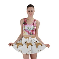 Cute Cats Seamless Wallpaper Background Pattern Mini Skirt