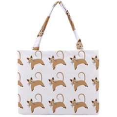 Cute Cats Seamless Wallpaper Background Pattern Mini Tote Bag
