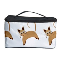 Cute Cats Seamless Wallpaper Background Pattern Cosmetic Storage Case