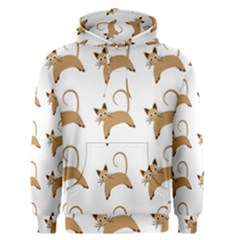 Cute Cats Seamless Wallpaper Background Pattern Men s Pullover Hoodie