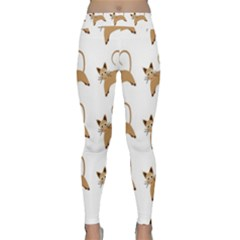 Cute Cats Seamless Wallpaper Background Pattern Classic Yoga Leggings
