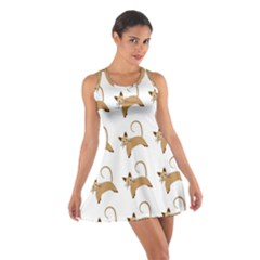Cute Cats Seamless Wallpaper Background Pattern Cotton Racerback Dress