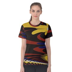 Peacock Abstract Fractal Women s Cotton Tee