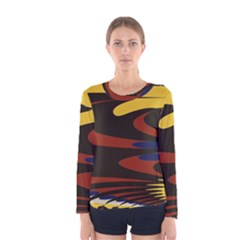 Peacock Abstract Fractal Women s Long Sleeve Tee