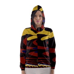 Peacock Abstract Fractal Hooded Wind Breaker (Women)