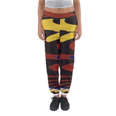 Peacock Abstract Fractal Women s Jogger Sweatpants
