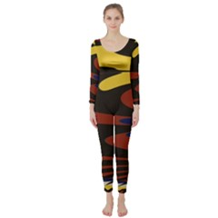 Peacock Abstract Fractal Long Sleeve Catsuit
