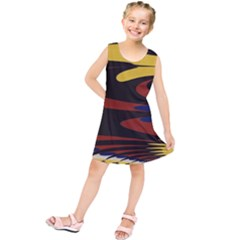 Peacock Abstract Fractal Kids  Tunic Dress