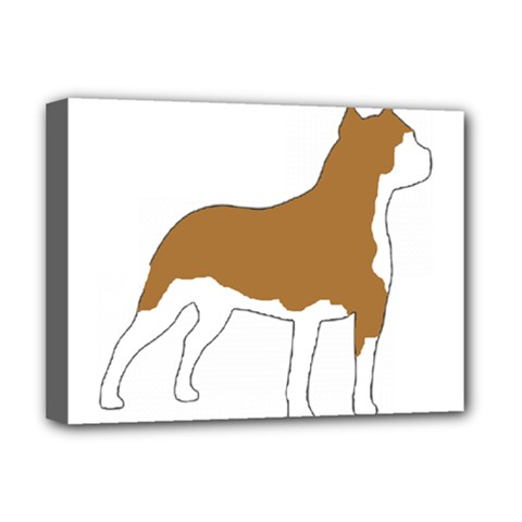 American Staffordshire Terrier  Silo Color Deluxe Canvas 16  x 12