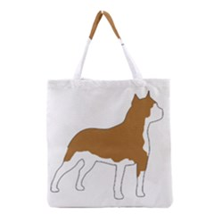 American Staffordshire Terrier  Silo Color Grocery Tote Bag