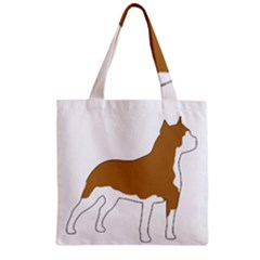American Staffordshire Terrier  Silo Color Zipper Grocery Tote Bag