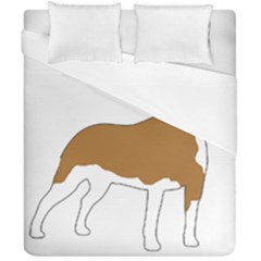 American Staffordshire Terrier  Silo Color Duvet Cover Double Side (California King Size)