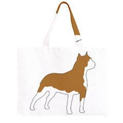 American Staffordshire Terrier  Silo Color Large Tote Bag