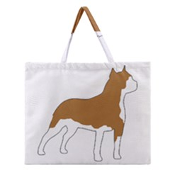 American Staffordshire Terrier  Silo Color Zipper Large Tote Bag
