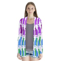 Rainbow Colorful Cats Wallpaper Pattern Cardigans