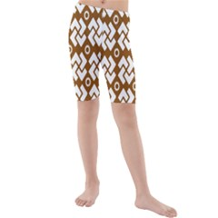 Art Abstract Background Pattern Kids  Mid Length Swim Shorts