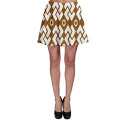 Art Abstract Background Pattern Skater Skirt