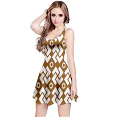 Art Abstract Background Pattern Reversible Sleeveless Dress