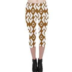 Art Abstract Background Pattern Capri Leggings