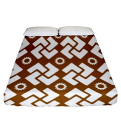 Art Abstract Background Pattern Fitted Sheet (king Size)
