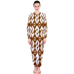 Art Abstract Background Pattern Onepiece Jumpsuit (ladies)