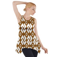 Art Abstract Background Pattern Side Drop Tank Tunic