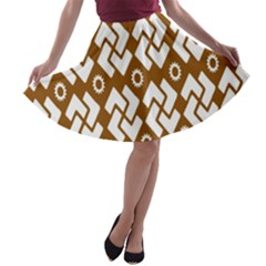 Art Abstract Background Pattern A-line Skater Skirt