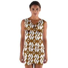 Art Abstract Background Pattern Wrap Front Bodycon Dress