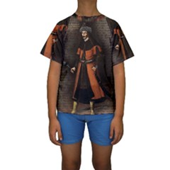 Count Vlad Dracula Kids  Short Sleeve Swimwear