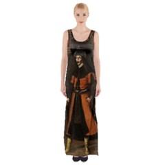 Count Vlad Dracula Maxi Thigh Split Dress