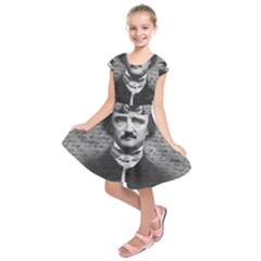Edgar Allan Poe  Kids  Short Sleeve Dress