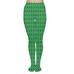 Clovers On Dark Green Women s Tights