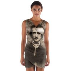 Edgar Allan Poe  Wrap Front Bodycon Dress
