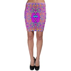 Colors And Wonderful Flowers On A Meadow Bodycon Skirt