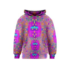 Colors And Wonderful Flowers On A Meadow Kids  Pullover Hoodie