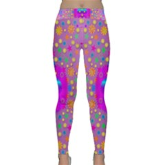 Colors And Wonderful Flowers On A Meadow Classic Yoga Leggings
