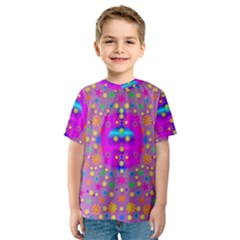 Colors And Wonderful Flowers On A Meadow Kids  Sport Mesh Tee