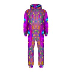 Colors And Wonderful Flowers On A Meadow Hooded Jumpsuit (Kids)