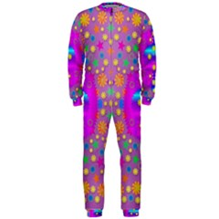 Colors And Wonderful Flowers On A Meadow OnePiece Jumpsuit (Men)