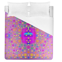 Colors And Wonderful Flowers On A Meadow Duvet Cover (Queen Size)