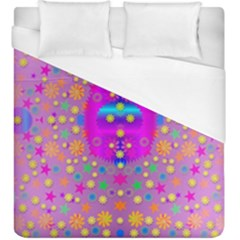Colors And Wonderful Flowers On A Meadow Duvet Cover (king Size)