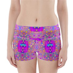 Colors And Wonderful Flowers On A Meadow Boyleg Bikini Wrap Bottoms