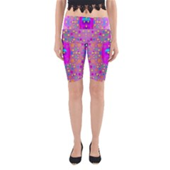 Colors And Wonderful Flowers On A Meadow Yoga Cropped Leggings