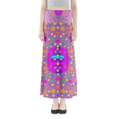 Colors And Wonderful Flowers On A Meadow Maxi Skirts