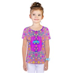 Colors And Wonderful Flowers On A Meadow Kids  One Piece Tee