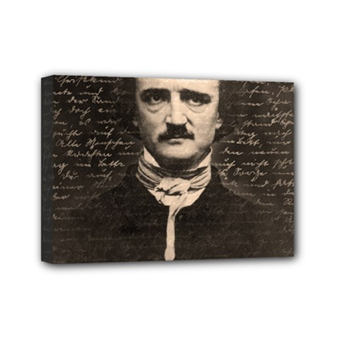 Edgar Allan Poe  Mini Canvas 7  x 5