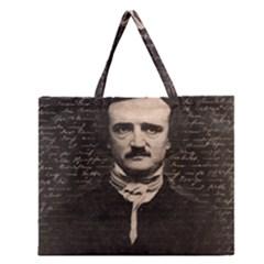 Edgar Allan Poe  Zipper Large Tote Bag