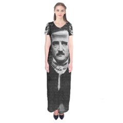 Edgar Allan Poe  Short Sleeve Maxi Dress