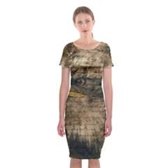 Vintage Eagle  Classic Short Sleeve Midi Dress