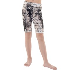 Vintage owl Kids  Mid Length Swim Shorts